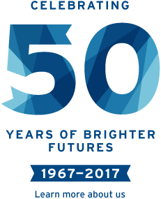 Celebrating 50 years of brighter futures, 1967-2017. Learn more about us.